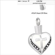 66. White Heart Cross