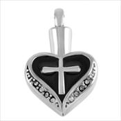 100. Black Heart Cross