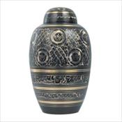 Black and Gold Brass Urn