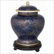 Royal Blue Cloisonne Urn