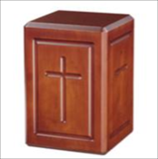 Calvary Cross Wood Urn
