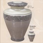 Silver Pearl - Brass Urn