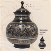 Black Engraved - Brass Urn