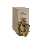 Bronze Sand Vertical Urn (Includes LifeSymbols or LifeStories Design)