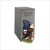 Pewter Bronze Vertical Urn (Includes LifeSymbols or LifeStories Design)