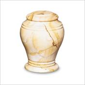 Teak Bell Jar Urn