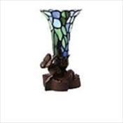 Blue Floral Lilies Lamp Keepsake