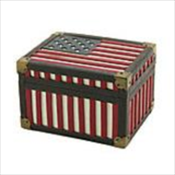 Star Spangled Banner Flag Memory Chest Keepsake
