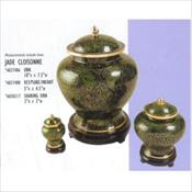 Mandarin Jade Cloisonne Urn