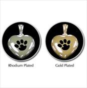 Heart Pawprint Pendant