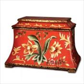 Red Floral Molded Clay