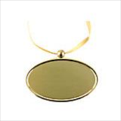 Golden Oval Pendant
