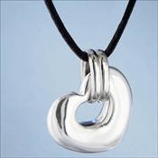 Sterling Silver Nambe' Heart Pendant