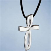 Sterling Silver Nambe' Cross Pendant