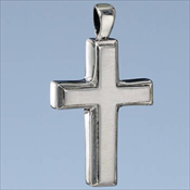 Sterling Silver Men's Cross Pendant