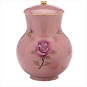Dusty Rose Cloisonne' Urn