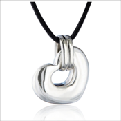 Sterling Silver Nambe' Heart Pendant