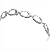 Sterling Silver Nambe' Oval Bracelet