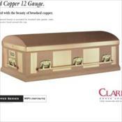Clark Grave Vault Company/Solid Copper 12 Gauge    $12,000