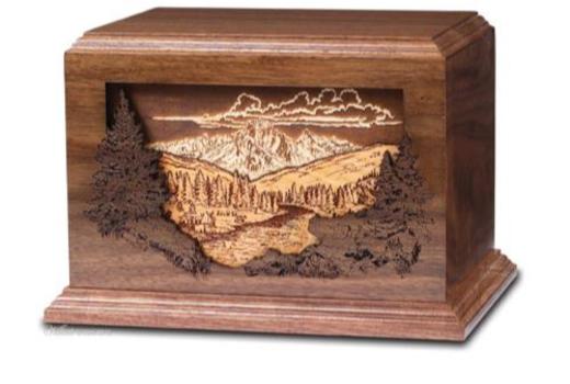 $Dimensional Urn - Mountain Scene