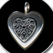 Heart with Antique Insert