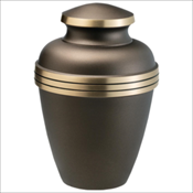 Chestnut Metal Urn