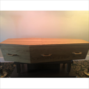 Solid Oak Alpha Coffin