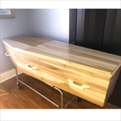 Solid Poplar Alpha Coffin