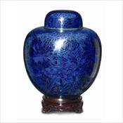 Cloisonne Blue, Cameo Rose, Green