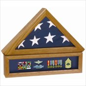 Flag Case w/Medal Display Case