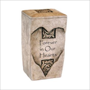Textured Stone Keepsake Urn