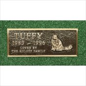 Cast Bronze Pet Marker