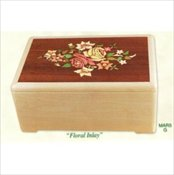 Floral Inlay Urn