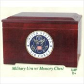Military Urn with Memory Chest