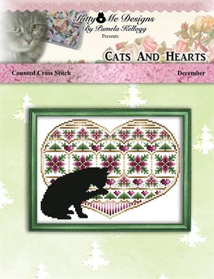 Cats And Hearts December Cross Stitch Pattern
