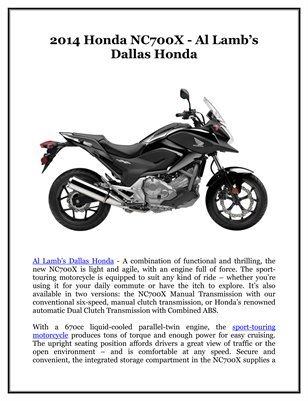 Collection other publications magcloud for Al lamb honda