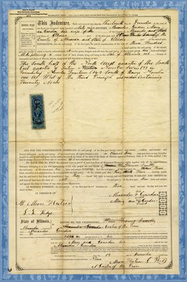 1869, Warranty Deed, Alexander Jourdan & Wife Mary Ann to Thomas Smitty