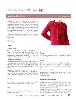 Matilde Cardigan