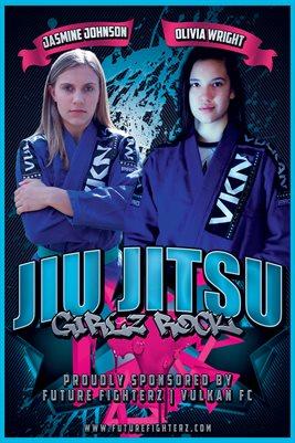 Jiu Jitsu GirlZ Rock Poster