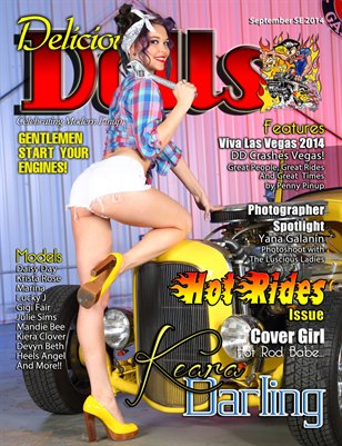 Delicious Dolls September Hot Rides Issue - Keara Darling Cover