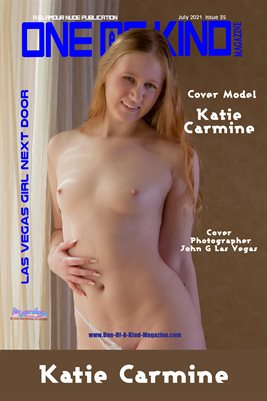 ONE OF A KIND MAGAZINE COVER POSTER - Cover Model Katie Carmine - July 2021