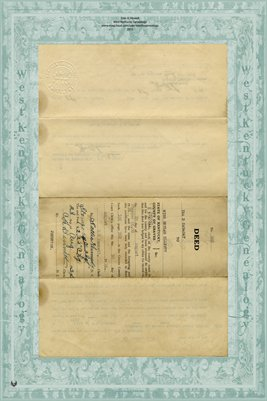 1934 Deed, Ira D. Canady to Miss Beulah Elliott, Graves County, Kentucky