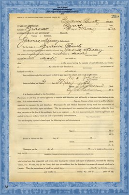 1924 State of Kentucky vs. James Kelley, Graves County, Kentucky