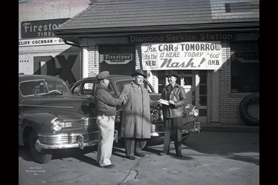 Jan. 22, 1946, Cliff Cochran D.X. Station, The New NASH CAR