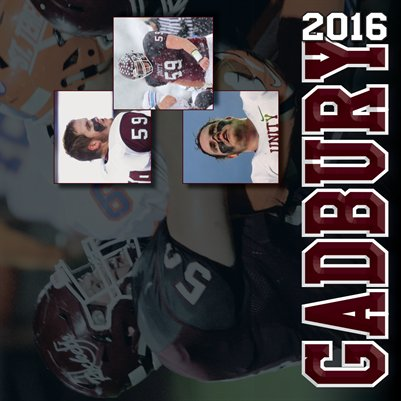 2016 Zach Gadbury Football Calendar