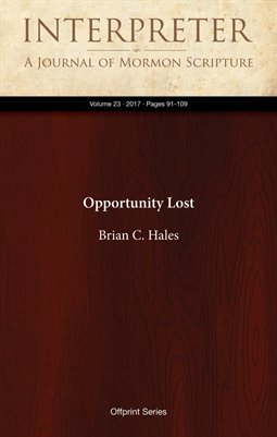 Opportunity Lost