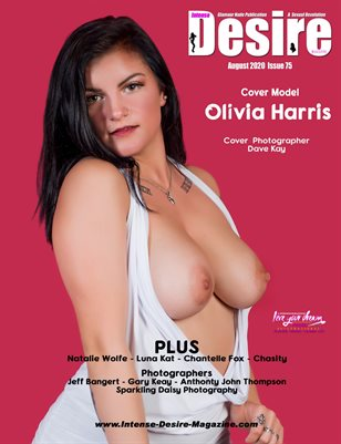 INTENSE DESIRE MAGAZINE - Cover Model Olivia Harris - August 2020