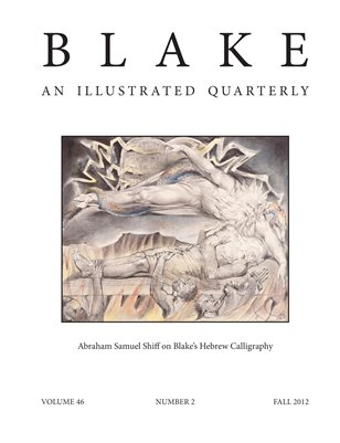 Blake/An Illustrated Quarterly vol. 46, no. 2 (fall 2012)