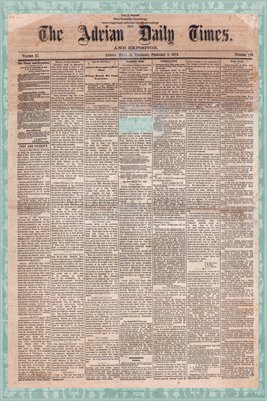 (Pages 1-2) The Adrian Daily Times & Expositor Feb. 3, 1876