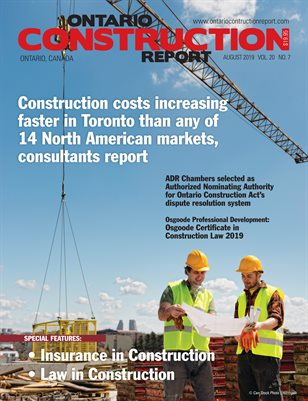 Ontario Construction Report (August 2019)